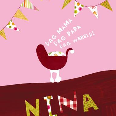 Geboortekaartje Nina